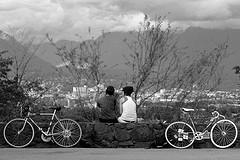 Bike riding couple